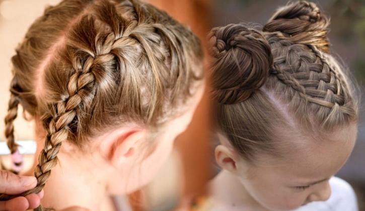 Kız çocukları için örgü saç modelleri